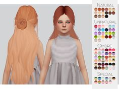 TS4 Child Hair Retexture 08 - LeahLillith's Renaissance• 90 Colors • Retexture • Thumbnail • Standalone The beautiful Mesh is by LeahLillith, But was converted by me, you need both My Retexture and...