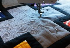 Christa's Quilt Along 6.6 - Swirls and Pearls FMQ Tutorial