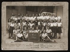 Class portrait of students and teachers in the fourth grade of the Jewish high school in Budapest. 1941-1942.