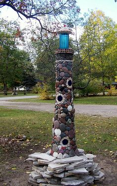 Mosaic Lighthouse Sculpture by Heart Windows Art, via Flickr