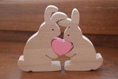 Easter gift – Wooden rabbits family – Easter bunny – Bunny toy – Love gift – Anniversary gift – Easter decoration – Love rabbits – Keep up with the times. Easter Gift, Easter Crafts, Easter Bunny, Bunny Bunny, Easter Toys, Wooden Crafts, Diy And Crafts, Homemade Anniversary Gifts, Anniversary Ideas