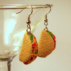 Fiesta Taco Earrings by ericaschmerica on Etsy, $14.95