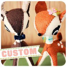 Deer Handmade Felt Cake Topper Fab Idea :)