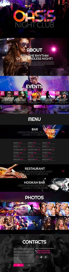 Oasis Night Club #website #template. #themes #business #responsive