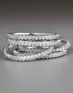 Stackable Diamond Eternity Bands