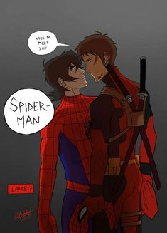 Nice to meet you Spiderman by Fani-Esta I don't ship Klance but it's a crossover Voltron Klance, Voltron Comics, Voltron Fanart, Form Voltron, Voltron Ships, Voltron Cosplay, Voltron Memes, Paladin, Marvel