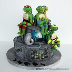 fondant ninija turtles tutorial | Tarta Tortugas Ninja – Ninja Turtles Cake – tmnt (5)