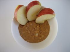 Peanut Butter and Apple: For a quick carb fuel-up, slice 1 medium apple and serve with 2 tablespoons all-natural peanut butter.