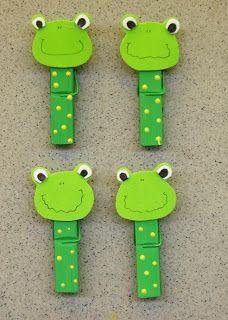 MaLu Kreativ Blog: 2009.06 Frog Crafts, Vbs Crafts, Camping Crafts, Craft Stick Crafts, Preschool Crafts, Paper Crafts, Fun Crafts To Do, Summer Crafts, Crafts For Kids