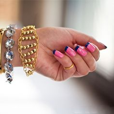 Create this delicate gold bracelet with pearl beads and chain in a few simple steps.  (via High on DIY)