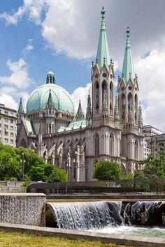 Neo-Gothic Architecture - Page 8 - SkyscraperCity Cathedral Architecture, Sacred Architecture, Architecture Graphics, Religious Architecture, Architecture Photo, Amazing Architecture, Beautiful Buildings, Beautiful Places, Sao Paulo Brazil
