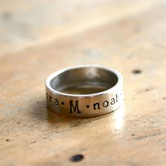 Mothers Name Ring — JustJaynes - Hand Stamped Jewelry