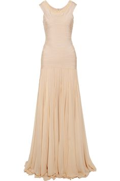 Embellished silk-chiffon bandage dress by Hervé Léger ... sooo dreamy