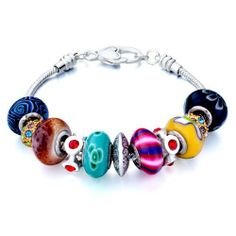 Pugster Murano Glass Beads Fit Pandora Chamilia Biagi Charm Bracelet Pugster. $49.99. Metal: metal,murano glass. Size (mm): 210*15.4*15.4. Color: silver,colorful. Weight (gram): 38.6