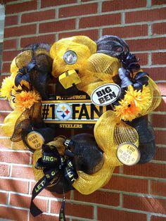 GO STEELERS!!! Definitely Worth The Price! Pittsburgh Steeler Wreath  Pittsburgh Pride By