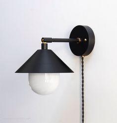 """Modern Wall Lamp - Modern Sconce - Modern Wall Light - Brass Sconce - Modern Brass Lamp - Bedside Reading Lamp - """"UFO"""" by PhotonicStudio on Etsy https://www.etsy.com/listing/244066231/modern-wall-lamp-modern-sconce-modern"""