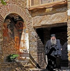 Father Archondaris, the reception monk - Mount Athos, Greece   by Lothar A. Hoppen