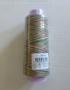 Mettler~Silk Finish Variegated 50wt Cotton Thread 1500yd/1372M Seasons Greetings # 9090-9825,TH180 Fast Shipping