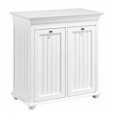 Home Decorators Collection Hampton Bay 26 In W Dbl Tilt Out Beadboard Hamper In