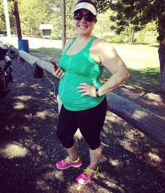 """My Mumberry tank was on point! No extra bump belt or sports bra needed!!! Pretty awesome for 23w4d!"" - Alicia, 23 weeks pregnant"