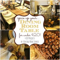 Spice Up Your Dining Room Table for Under $20 by Vintage News Junkie