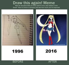 Cannot believe I found a REALLY old drawing from when I was 11 years old!!  I just HAD to put up a meme!!   You can TOTALLY SEE THE CHANGES!!  Hard to believe that I never realized how crappy my style was as a child!!