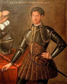 """Alessandro de Medici, Duke of Penne and Duke of Florence, who was commonly called """"il moro,"""" Italian for """"The Moor"""". In his day, he was officially recognized as the son of the powerful Lorenzo II de Medici (1510-1537) and an unknown African woman. Alessandro was the last Medici to rule Florence, having assumed the throne at the young age of 19."""