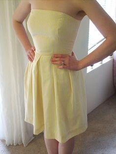 Adventures in Dressmaking: Sunshine yellow seersucker