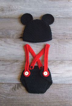 Mickey Mouse costume.