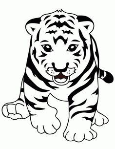 T For Animal Tiger Coloring Pages Kids Coloring Pages