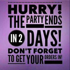 Hurry the party ends in 2 days. Place your orders now and receive a free wrap from me along with some extra goodies!! Http://kellyrich05.jamberrynails.net the