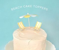 Beach Cake Toppers   Oh Happy Day!