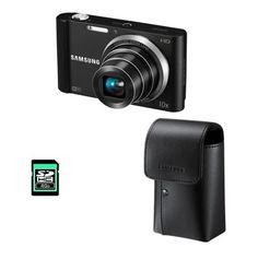 Die hochwertige, schlanke Samsung ST200F lädt Aufnahmen über das integrierte WiFi-Modul per Knopfdruck in Soziale Netzwerke, um sie dort von Freunden und Familie bewundern zu lassen. 16-Megapixel-Auflösung, 10-fach optischer Travelzoom und 27-Millimeter-Weitwinkel sorgen für Bildqualität zum Vorzeigen.