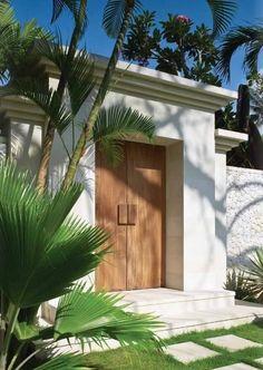 Trendy Exterior Entrance Design Dream Homes Entrance Design, Entrance Gates, House Entrance, Door Design, Exterior Design, Entrance Ideas, Garden Entrance, Villa Design, Bali Decor