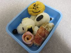 Recipe : How to Make SNOOPY Bento Lunch Box. キャラ弁 レシピ : スヌーピー キャラクター弁当 作り方