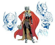 Russell Dauterman is an illustrator and character designer, best known as the artist of the Marvel comic book series, THE MIGHTY THOR. Marvel Comics, Marvel Art, Marvel Heroes, Jane Foster, Thor Characters, Arte Nerd, The Mighty Thor, Marvel Comic Character, Marvel Girls