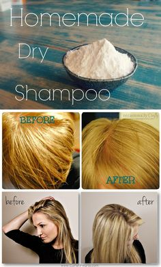 How to Make Dry Shampoo for All Hair Colors. Light Hair - Corn Starch. Dark Hair - Cocoa Powder and Corn Starch