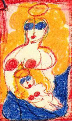 Aloïse Corbaz.     http://dayoftheartist.com/2014/11/04/day-308-aloise-corbaz-perpetual-ecstasy/