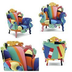 Fesselnd Barock Sessel Design Proust Sessel Menidni Bunt Geometrische
