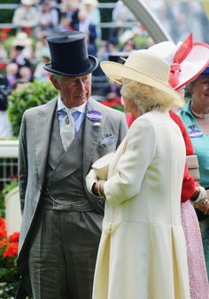 Charles, Prince of Wales and Camilla, Duchess of Cornwall attend day two of Royal Ascot at Ascot Racecourse on June 18, 2014 in Ascot, England.