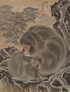 河鍋暁斎『うずくまる猿』明治21(1881)年頃 メトロポリタン美術館蔵 ©Metropolitan Museum of Art