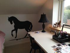 Wall sticks til den glade hestepige