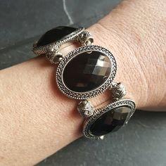 Neo Victorian Gothic Bracelet - Black Prom Bracelet - Goth Jewelry - Ren Faire - Evil Queen Costume - Cocktail Bracelet Gift