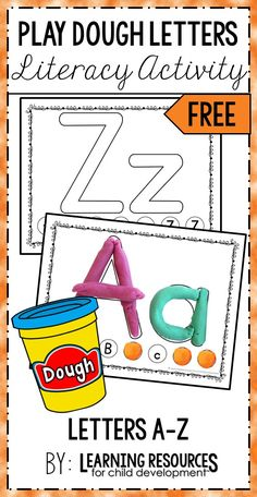 Play Dough Letter Mats are the perfect way to learn uppercase and lowercase letters in preschool, pre-k, kindergarten, rti, and early childhood. Free printable by Learning Resources for Child Development. activities preschool pre k Toddler Learning Activities, Preschool Learning Activities, Homeschool Kindergarten, Free Preschool, Learning Resources, Pre K Resources, Kindergarten Literacy Activities, Letter Sound Activities, Early Childhood Activities