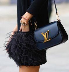 LV bag ( love the skirt too )