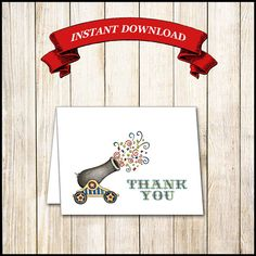 Circus Thank You Note Cards / Midway by WrappedToPerfection