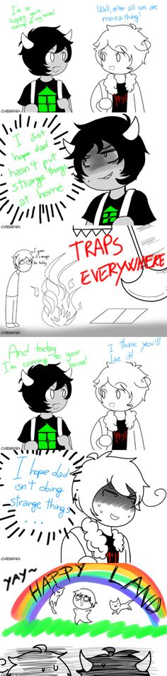 Fandomstuck. Homestuck and hetalia visiting each other. I love how their creators are their fathers!<--...Duh?