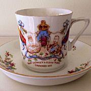 1911 King George V & Mary Coronation Tea Cup & Saucer