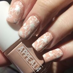 Love this nude and stamped with flowers