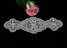 QueenDream crystal rhinestone beaded Motif classic Elegant belt DIY crafts Bridal applique -- Want additional info? Click on the image.